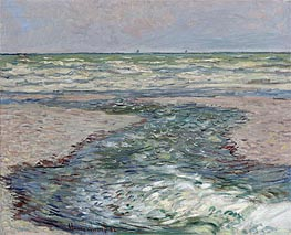 River at Pourville, Low Tide | Monet | Painting Reproduction