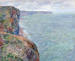 Sea View with Cliffs | Monet | Gemälde Reproduktion