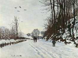 The Road to the Saint-Simeon Farm in Winter | Monet | Gemälde Reproduktion