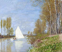 Sailboat on the Petit Bras of the Seine, Argenteuil | Monet | Painting Reproduction