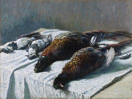 Still Life with Pheasants and Plovers, 1879 by Monet | Painting Reproduction
