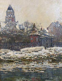 The Church at Vetheuil, Winter | Monet | Painting Reproduction