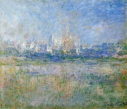 Vetheuil in the Mist | Monet | Painting Reproduction