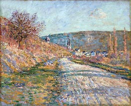 The Road to Vetheuil | Monet | Painting Reproduction
