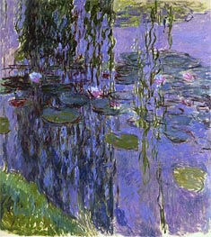 Willow Fronds and Water Lilies | Monet | Painting Reproduction
