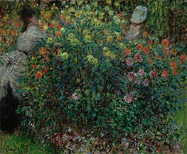 Women Amidst Flowers | Monet | Painting Reproduction