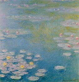 Nympheas at Giverny, 1908 by Monet | Painting Reproduction