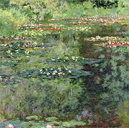 The Waterlily Pond, 1904 by Monet | Painting Reproduction