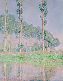Poplars, Pink Effect, 1891 by Monet   Painting Reproduction