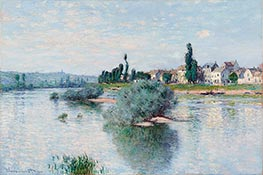 The Seine at Lavacourt, 1880 by Monet   Painting Reproduction