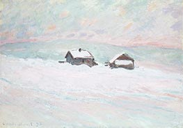The Houses in the Snow, Norway, 1895 by Monet | Painting Reproduction