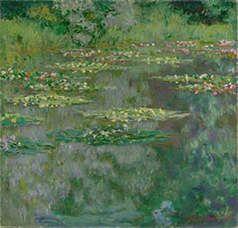 Waterlilies or The Water Lily Pond (Nympheas), 1904 by Monet | Painting Reproduction