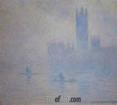 Houses of Parliament, Fog Effect, 1904 | Monet | Painting Reproduction