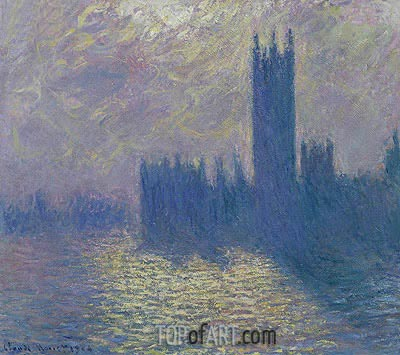 Houses of Parliament, Stormy Sky, 1904 | Monet | Painting Reproduction