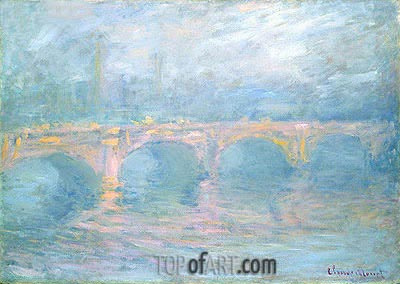 Waterloo Bridge, London, at Sunset, 1904 | Monet | Painting Reproduction