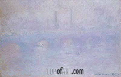 Waterloo Bridge, Effect of Fog, 1903 | Monet | Painting Reproduction