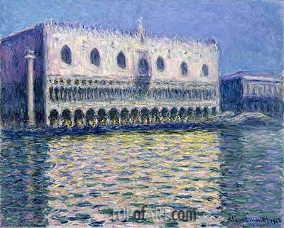 The Doge's Palace (Le Palais ducal), 1908 | Monet | Gemälde Reproduktion