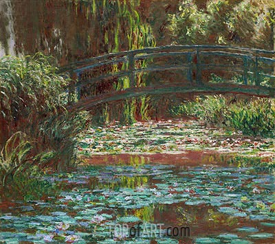 Japanese Bridge at Giverny (Water Lily Pond), 1900 | Monet | Painting Reproduction
