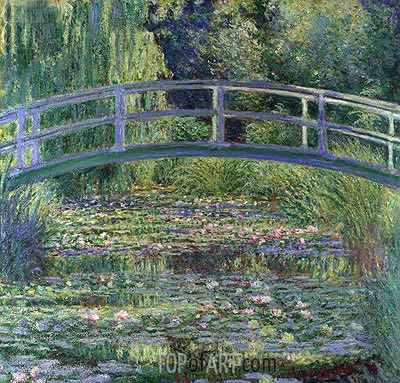Water Lily Pond, (Symphony in Green), 1899 | Monet | Painting Reproduction