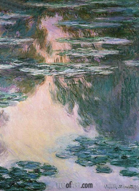Water Lily Pond, 1907 | Monet | Painting Reproduction