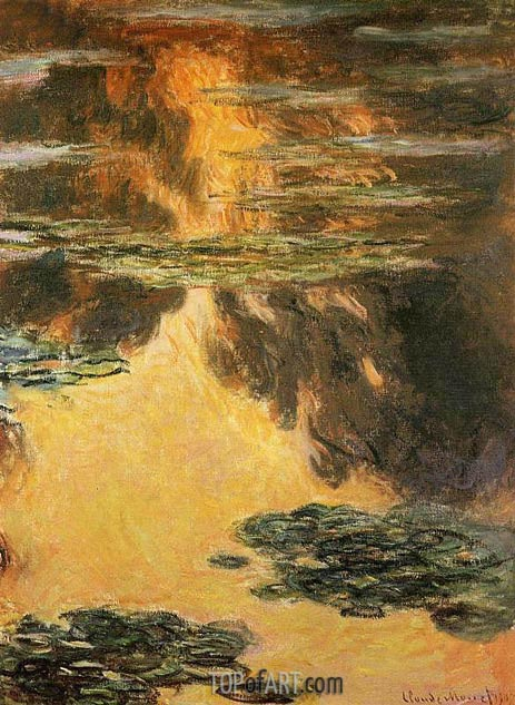 Water Lilies, 1907   Monet   Painting Reproduction