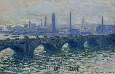 Waterloo Bridge, Misty Morning, 1902 | Monet | Painting Reproduction