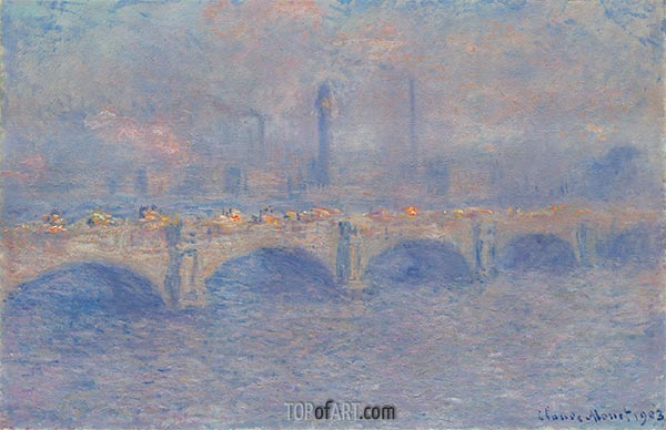 Waterloo Bridge, Sunlight Effect, 1903 | Monet | Painting Reproduction