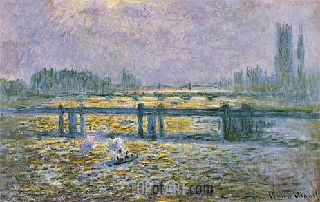 Charing Cross Bridge, Reflections on the Thames, c.1901/04 | Monet | Painting Reproduction