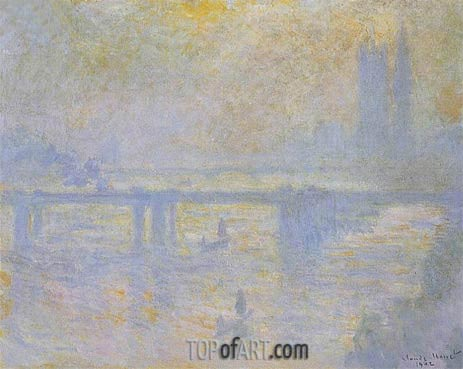 Charing Cross Bridge, 1902 | Monet | Painting Reproduction