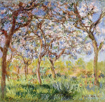 Spring at Giverny, 1900 | Monet | Painting Reproduction