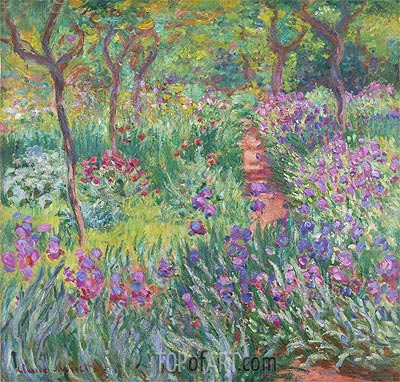 The Artist's Garden at Giverny, 1900 | Monet | Gemälde Reproduktion