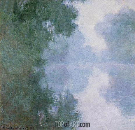 The Seine at Giverny, Morning Mists, 1897 | Monet | Gemälde Reproduktion