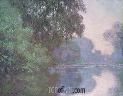 Branch of the Seine near Giverny, 1896 | Monet | Gemälde Reproduktion