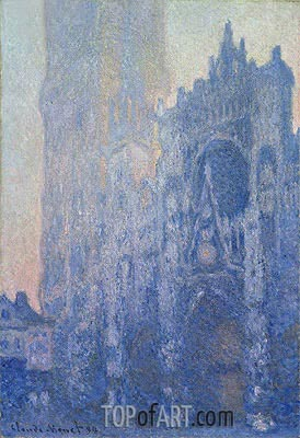 Rouen Cathedral Facade and Tour d'Albane (Morning Effect), 1894 | Monet | Painting Reproduction