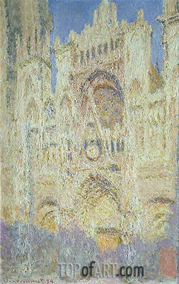 Rouen Cathedral at Sunset, 1894 | Monet | Painting Reproduction