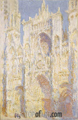Rouen Cathedral, West Facade, Sunlight, 1894 | Monet | Painting Reproduction