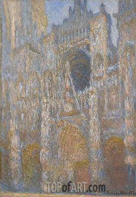 The Portal of Rouen Cathedral at Midday, 1894 | Monet | Painting Reproduction