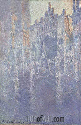 Rouen Cathedral, The Portal, Morning Fog, 1894 | Monet | Painting Reproduction