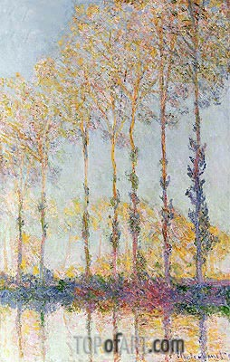 Poplars on the Bank of the Epte River, 1891 | Monet | Gemälde Reproduktion