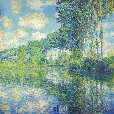 Poplars on the Epte, 1891 | Monet | Painting Reproduction