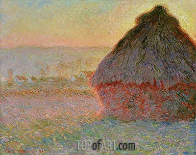 Haystack at Sunset, 1891 | Monet | Gemälde Reproduktion