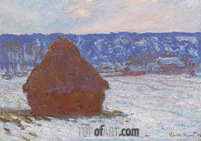 Stack of Wheat (Snow Effect, Overcast Day), 1891 | Monet | Gemälde Reproduktion