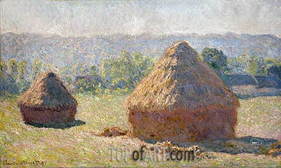 The Haystacks or The End of the Summer at Giverny, 1891 | Monet | Gemälde Reproduktion