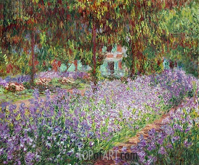 Irises in Monet's Garden at Giverny, 1900 | Monet | Painting Reproduction