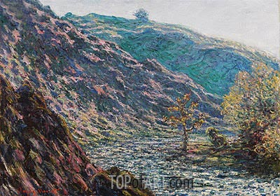 The Petite Creuse River (The Old Tree at the Confluence), 1889 | Monet | Gemälde Reproduktion