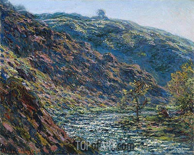 Valley Of The Petite Creuse, 1889 | Monet | Painting Reproduction