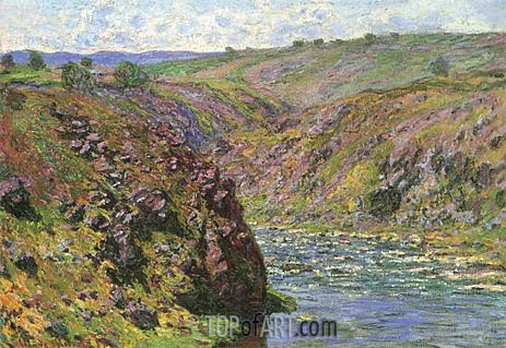 Ravine of the Creuse, Sunlight Effect, 1889 | Monet | Gemälde Reproduktion