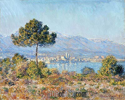 Antibes Seen from the Plateau Notre Dame, 1888 | Monet | Gemälde Reproduktion