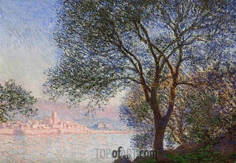 Antibes Seen from the Salis Gardens, 1888 | Monet | Gemälde Reproduktion