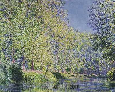 A Bend in the River Epte, Near Giverny, 1888 | Monet | Painting Reproduction